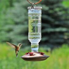 Perky-Pet 10 oz. Nectar Garden Backyard Antique Bottle Glass Hummingbird Feeder