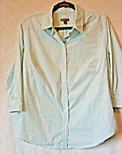 MERONA Cotton 3/4 Sleeve Button Front Blouse Size XL