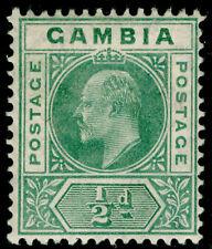 Gambia SG57, 1/2 D Verde, M como nueva.