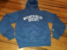 Vtg Washington And Lee University champion Men Navy Blue Hoodie Sweatshirt small