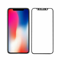 iPhone X Screen Protector Best Tempered Glass Thin 100% Full Protection - Black