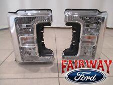 17 thru 18 Super Duty F250 F350 OEM Ford Halogen Head Lamps Lights LH & RH Pair