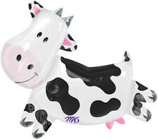 "30"" Black & White COW Farm ANIMALS Barnyard Western Birthday Party Balloon"