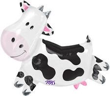 "30"" Black & White COW Farm ANIMALS Barnyard Western Birthday Party Balloon"