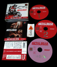 METAL GEAR SOLID INTEGRAL SONY Playstation PSX Play Station PS1 Spine JAPONES