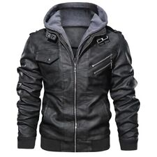 Men's Leather Jackets Autumn Casual Motorcycle PU Jacket Biker Leather Coats