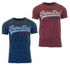 Superdry Mens New Vintage Logo Short Sleeve Crew Neck Print T-Shirt Navy Red