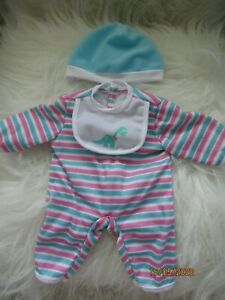 SLEEPING SUIT STRIPES TO FIT  14inch BERENGUER/ Lots to love/Chubby Doll