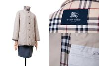 Women's BURBERRY LONDON Quilted Jacket Сream Beige Color Plaid Size 38 (lot #2)