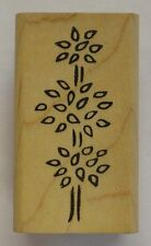 Rubber Stamp Leafy Topiary Tree - wood mounted DD