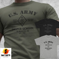Sniper School T-shirt US Army Special Forces Fort Benning Training Camp S-3XL