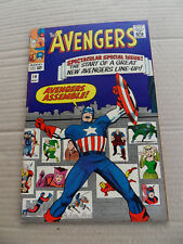 Avengers 16 . New Avengers Line-Up . Marvel 1965 . FN +