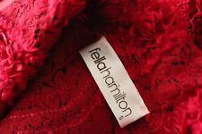 Fella Hamilton Red Applique Dress Jacket Blazer Size 10 Cocktail Steampunk