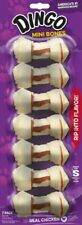 """LM Dingo Meat in the Middle Rawhide Chew Bones Mini - 2.5"""" (7 Pack)"""