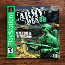 Army Men 3D PS1 Playstation 1 PS One Instruction Manual Only