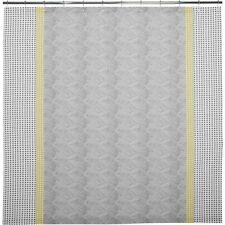 Crate & and Barrel TORBEN YELLOW SHOWER CURTAIN- NEW- NIP-Yellow/Grey