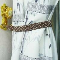 1Pair Curtain Tie Backs Braided Curtains Rope Window Decor Curtain Accessories.~
