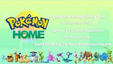 Living Shiny Pokedex Gen 1-7 + Event pokemon sent straight to your Pokémon Home