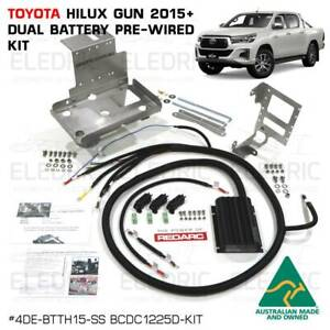 Toyota Hilux Fortuner 2015+ Dual Battery Wiring Kit Redarc BCDC1225D DIY DCTH15