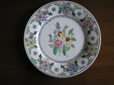VERY COLOURFUL HAND PAINTED FLORAL DECORATIVE PLATE, MADE IN MACAU