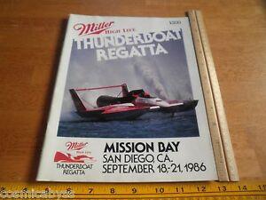 1986 Speed Boat Racing Thunderboats program Miller High Life Hydroplane Regatta