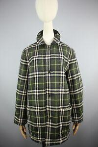 Burberry London made in England Nova Check Reversible short coat jacket Size S