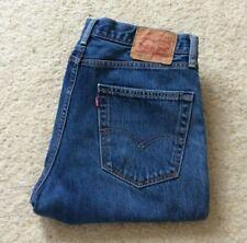 Mens Levis 751 indigo blue straight leg denim mid rise jeans W 32 L 32