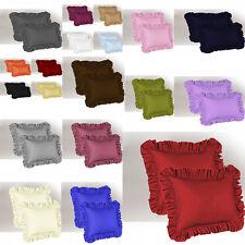1000 Thread Count 2pc Designer Edge Ruffle Pillow Sham Soft Satin Cotton