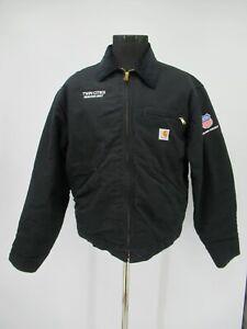 M9120 VTG Men's Carhartt Blanket-Lined Duck Detroit Jacket Made In USA Size L
