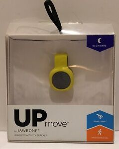 UP MOVE by Jawbone Activity-Sleep Tracker, Black with Yellow Clip New Open Box