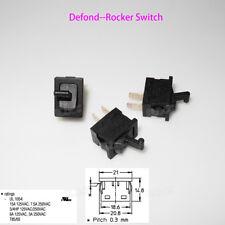 3PCS Defond Rocker Switch CTR-1115 15A/125V 7.5A/250V AC/DC ON OFF Button Switch