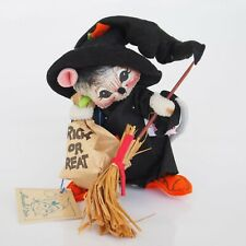 AnnaLee Mobilitee Doll Vintage Halloween Trick or Treat Witch Mouse 1993