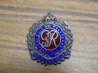 Silver  Enamel Royal Engineers Honi Soit Qui Mal Y Pense sweetheart Badge brooch