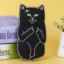 3D Cute Cartoon Bear Cat Rabbit Animal Silicone Rubber Gel Soft Phone Case Cover