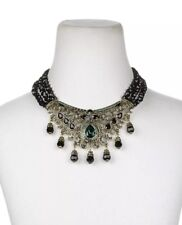 Queen 3-Row Beaded Crystal-Accented Bib Necklace New Heidi Daus It's Good to be