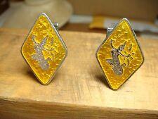 Enamel siam 925 estate jewelry girl Sterling Silver Vintage Amfarco Yellow Gold