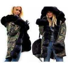 Roiii Women Rich Faux Fur Warm Outdoor Snow Winter Hooded Jacket Coat Plus Sizes