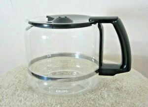Krups 12 Cup Glass Coffee Carafe, Lid Replacement ProAroma 453, 452, 137, 134