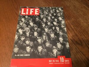 Vintage Life Magazine-July 26 1943 - 8th Air Force Bombers beautiful advertising