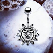 SERENITY Sun Belly Bar Belly Bars Belly Button Piercing Belly Button Piercings