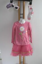 Gymboree Butterfly  Blossoms Girls Size 4T NWT Sunglasses Hair Bows Shirt Tutu