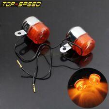 7mm Chrome Turn Signal Light Front Lamp Fairing Winker For Honda Z50 ST50 ST70