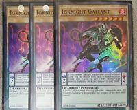 3x Igknight Gallant - AP08-EN005 - Super Rare - Unlimited Edition - Near Mint