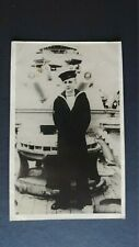 Anonymous Sailor Aboard Ship Royal Navy Real Photo Postcard