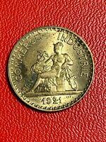 #5676 - 2 francs 1921 CDC SUP/SPL Magnifique - FACTURE