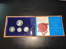 Austria 1965 Vienna University Anniversary Silver Proof 4-Coin Set