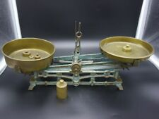 schöne alte Tischwaage Tisch Waage mit Gewichten kleine Waage  [Schw 216