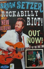 BRIAN SETZER 2014 Rockabilly Riot promo poster New Old Stock Flawless Stray Cats