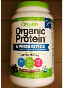 Orgain Organic Plant Based Protein Powder & Superfoods + Probiotics, 2.70lb