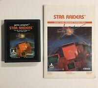 Atari 2600 Star Raiders 1982 Game With Manual Tested